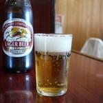 魚料理 ホノルル食堂 - キリンラガービールの中瓶