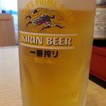 ゆめあん食堂 - 生ビールは一番搾り330円