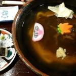 86181168 - のっぺいうどんと焼鯖寿司です♪