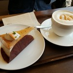 上島珈琲店 - ケーキと珈琲1