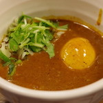 86183717 - ベジポタ辛つけ麺、味玉入り