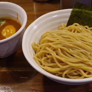 ベジポタつけ麺えん寺 - 料理写真:ベジポタ辛つけ麺、味玉入り、大盛