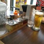 横浜家系ラーメン 魂心家 - 昼から生意気にムギなんか飲んで!