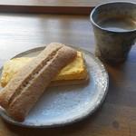 燦燦カフェ - サンドイッチ・厚焼き玉子&燦々コーヒー