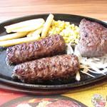 ブロンコビリー - 料理写真:炭焼き ブロンコハンバーグ&炭焼き やわらか ランチステーキ