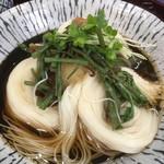 千寿亭 - 出汁を回しかける