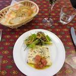 86189111 - ランチ:パン、お魚とキノコのテリーヌ トマトとハーブのソース