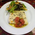 86189118 - ランチ:お魚とキノコのテリーヌ トマトとハーブのソース