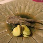 みや - 30年5月 天竜川稚鮎フリット 木の芽餡、空豆