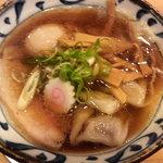 麺屋伏見商店 - わんたん麺(煮たまご)