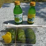 道の駅 おくとろ - 料理写真:じゃばらドリンクとめはり寿司