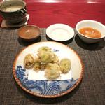 三合菴 - 蕗の薹の天ぷら
