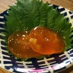 日本酒うなぎだに - 黄身の味噌漬けっぽい何か。