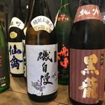 モダン和食 かみや - 店主自ら選び抜いた日本酒を常備ご用意しております。