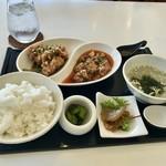 chinese kitchen 安蘭樹 - 麻婆豆腐ランチセット(¥850)&油淋鶏ハーフ(+¥200)