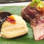 うを勢 - 煮穴子&マグロ頰肉