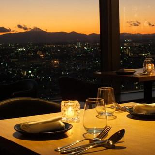 ロマンチックな眺めがデートを演出する