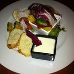 ラ・ステラ - 野菜の冷製チーズフォンデュ、生ハム添え