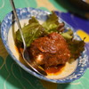 新川屋酒店 - 料理写真:手作りトマトハンバーグ(400円)2018年5月