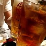 86203473 - 連れはビール、私はウーロン茶で乾杯です。