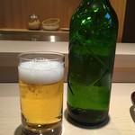 すし八左ェ門 - ビール(ハートランド)