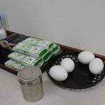 86206154 - 早なれ・巻き寿司150円 ゆで玉子50円