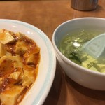 口福館 - 麻婆豆腐あんかけ炒飯とスープ