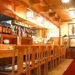 串あげ太郎 - 店内 カウンター