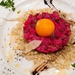 レープレ - 牛肉とグラナパダーノのタルタル