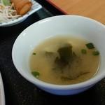 興福順 - ワカメと豆腐の味噌汁は日本人向けです!