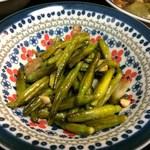 喜来楽 - 金針菜と豚肉のニンニク炒め