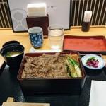 柿安イートイン - 黒毛和牛すき焼重