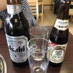 藤ヶ丘食堂 - 2018年5月20日  瓶ビール(アサヒスーパードライ)550円・キリン フリー 350円