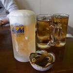 犬若食堂 - 乾杯のビール、よく冷えています