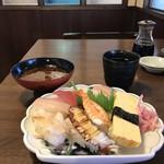 すし処 酒処 道場 - にぎり、お昼は8貫で税込み920円です(2018.5.21)