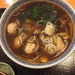 砂場そば店 北品川 - 牡蛎そばは冬季のみ