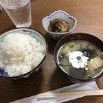 ていしょくうえだ - 料理写真:ご飯、味噌汁、小鉢