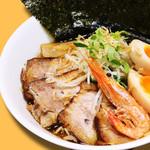 ガガナ ラーメン - えび香油だし醤油らーめん (特製盛り)