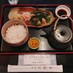 赤坂 三河家 - 蟹茶漬け @1,000円 ごはんはお替り無料。食後にはあたたかいお茶もサービスいただきました。