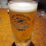 七輪 - ビールは一番搾り