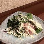鶴橋いちごいちえ - ささみとアボカドのわさび醤油かけ