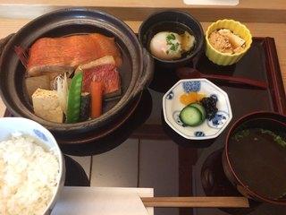 赤坂 ひかわ - 金目鯛煮付け膳