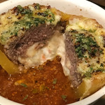 ミックス テイスト - ◆トマトで煮込んだまるごとパプリカ肉詰め  モッツァレラチーズ焼き@980円