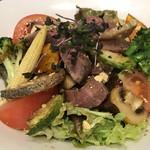 ミックス テイスト - ◆ローストビーフと揚げ野菜のサラダ  バルサミコ仕立て@880円