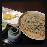 86249668 - もり蕎麦とキス天ぷら