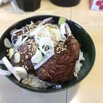 煮干ラーメンとローストビーフ パリ橋 - プレミアムハラミ丼(小) ¥500