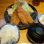 三是食堂 かつどころ - アジフライ定食@780