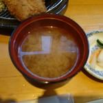 三是食堂 かつどころ - お味噌汁