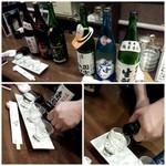 生駒 - お酒が揃い注いで頂きました!