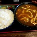 辨慶うどん - 料理写真:きざみカレーうどん&ライス大
